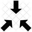 Arrows Convergence Converging Icon