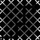 Arrow Zigzag Turning Icon