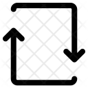Arrows Turn Down Icon