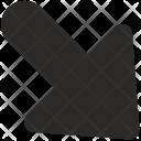 Bottom Right Arrow Icon