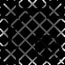 Arrow Down Drag Icon