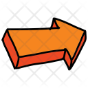 Arrow Right 3 D Icon