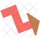 Zigzag arrow Icon