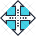 Arrow Cross Decision Icon