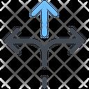 Arrow Arrows Crossroad Icon