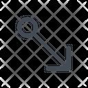 Arrow Bottom Direction Icon
