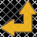 Arrow Up Left Arrow Resize Icon