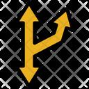 Multi Directional Arrow Interaction Cross Way Side Way Icon