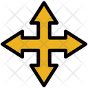 Multi Directional Arrow Selection Cross Intersection Icon