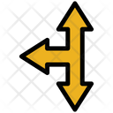 Cross Arrow Left Move Icon