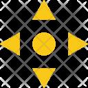 Arrow Center Cross Icon
