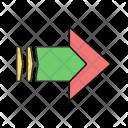 Arrow Striped Right Icon