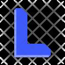 Arrow L Shape Icon
