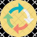 Arrow Circle Arrows Icon