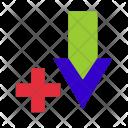 Arrow Down Plus Icon