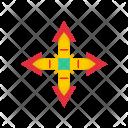 Arrow Quad Interface Icon