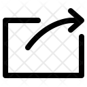 Arrow Document Share Icon