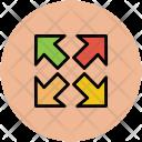Arrow Expand Increase Icon