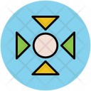 Arrow Pointing Navigational Icon