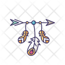 Arrow And Feathers Icon