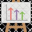 Arrow Bar Chart Icon