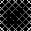 Arrow Bottom Leftarrow Icon
