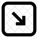 Arrow Bottom Right Rarrow Icon