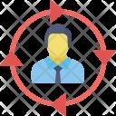 Arrow Circle Man Icon