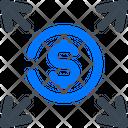 Arrow Coin Icon