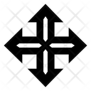 Arrow Cross Crisscross Expand Icon