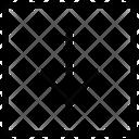 Arrow Down Decrease Line Icon