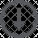 Arrow Down Button Icon
