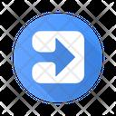 Arrow Square Button Icon