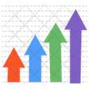 Arrow Infographic Bar Chart Bar Diagram Icon