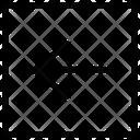 Arrow Left Line Thin Icon