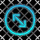 Arrow Left Expand Icon