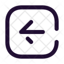 Arrow Left Square Icon