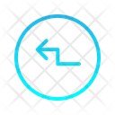 Arrow Left Zigzag Icon