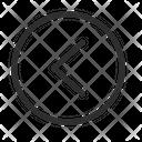 Arrow Navigation Left Circle Icon