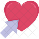 Arrow On Heart Arrow Click Icon