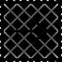 Arrow Right Line Thin Icon
