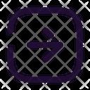 Arrow Right Square Icon