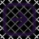 Arrow Right Square Right Arrow Right Side Icon