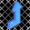 Arrow Right Up Icon