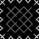 Arrow Square Left Icon