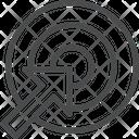 Arrow Target Board Icon