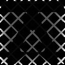 Arrow Through Down Icon