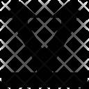 Arrow Through Up Icon