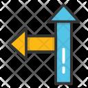 Arrow Turn Sign Icon