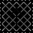 Arrow Up Line Top Icon